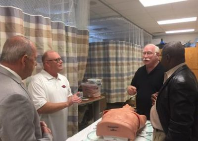 Arkansas Legislators Visit ATLS Course in Pine Bluff